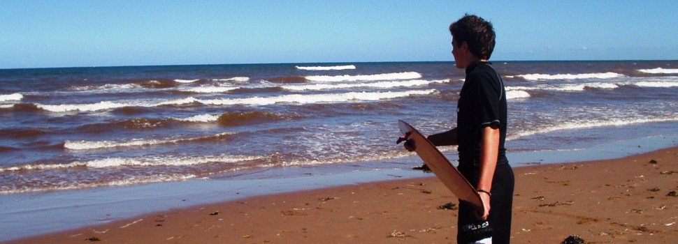 Surfing on the North Shore of PEI